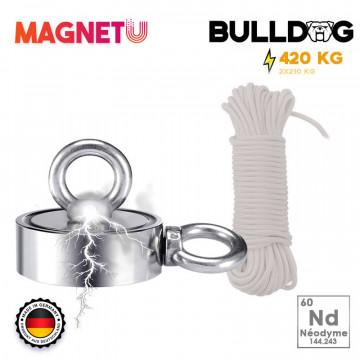 Aimant bulldog 420 KG + corde