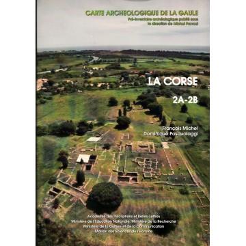 Carte archeologique de la gaule2A , 2B la Corse